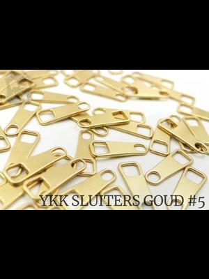 YKK Metaal Klassieke YKK Pullers #5, goud (5 stuks)