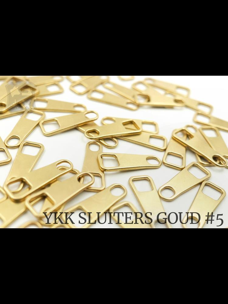 YKK Metaal Klassieke Goudkleurigie YKK Rits Pullers (5 stuks)