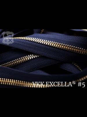 YKK Excella® Excella® #5 Goud van de rol - (K16:  Marine blauw 058)