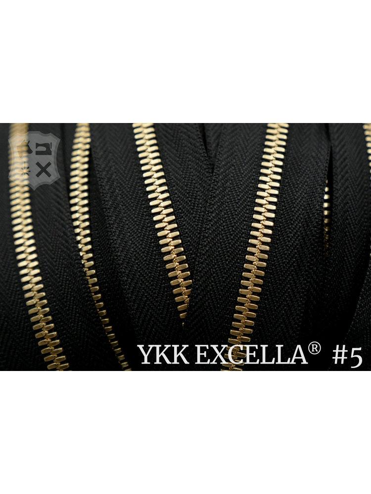 YKK Excella® Excella® #5 Golden Brass van de rol - zwart (580)