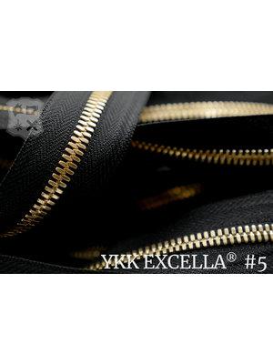 YKK Excella® Excella® #5 Goud van de rol - (ZA19 - zwart 580)