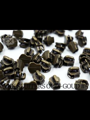 YKK Metaal Exclusieve YKK sluiter #5, oud-goud (5 stuks)