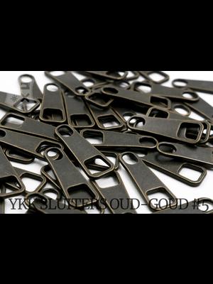 YKK Metaal Klassieke YKK Pullers #5/#8, oud-goud (5 stuks)