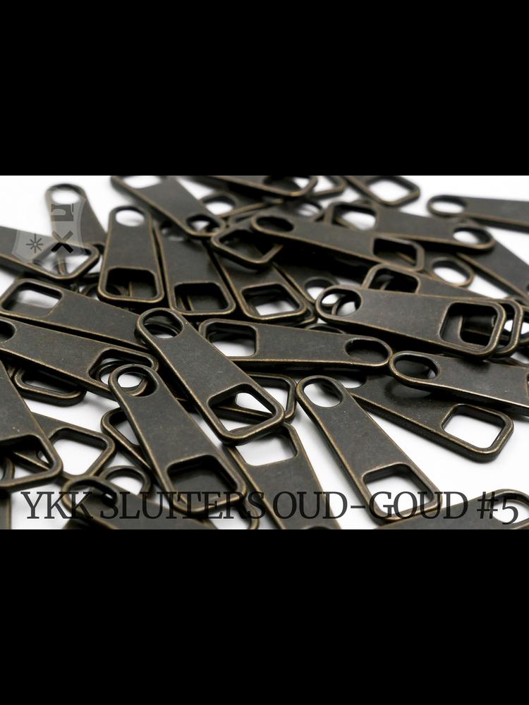 YKK Metaal Klassieke oud-goud (Antique-brass) YKK Rits Pullers (5 stuks)