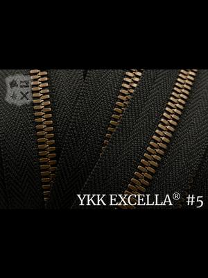 YKK Excella® Excella® #5 Antique Brass van de rol - zwart (580)
