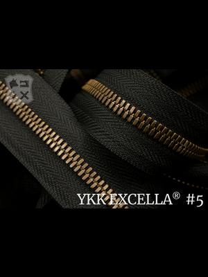 YKK Excella® Excella® #5 Oud-Goud van de rol - (ZA19 - zwart 580)