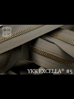 YKK Excella® Excella® #5 Antique-Brass van de rol - Taupe (034). Per Meter