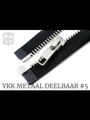 YKK Metaal YKK Metalen Deelbare rits #5 nikkel, 80 cm - (ZA19 - zwart 580)
