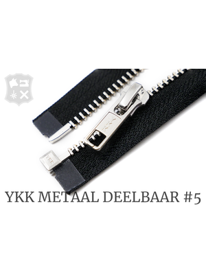 YKK YKK Metalen Deelbare rits #5 nikkel, 80 cm - (ZA19 - zwart 580)