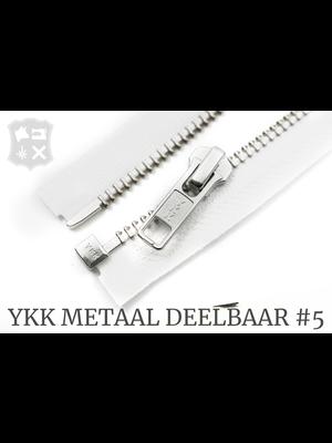 YKK YKK Metalen Deelbare rits #5 nikkel, 80 cm - (wit 501)