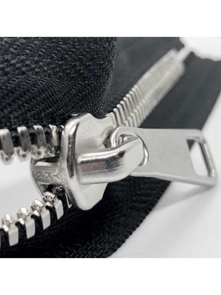 YKK Excella® YKK Excella Rits #8 zilver op maat (enkel) - (ZA19 - zwart 580)