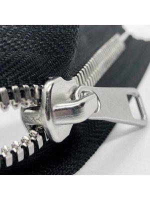 YKK Excella® YKK Excella Rits #8 zilver op maat (dubbel / head-to-head) -(ZA19 - zwart 580)