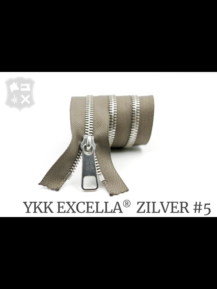 YKK Excella® YKK Excella Rits #5 zilver op maat (enkel) - (Y05 - taupe 034)