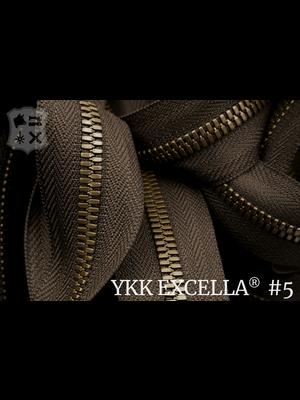 YKK Excella® Excella® #5 Oud-Goud van de rol - (V19: Donkerbruin 088)