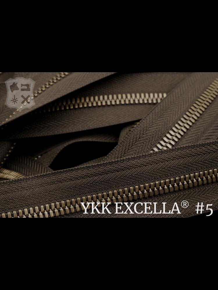 YKK Excella® Excella® #5 Antique Brass van de rol - Donkerbruin (088). Per Meter