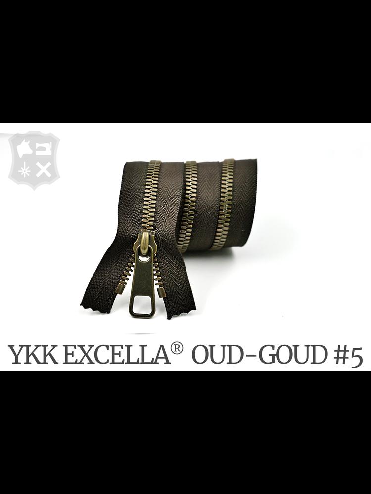 YKK Excella® YKK Excella Rits #5 Oud-Goud  op maat (enkel) - (V19 - Donkerbruin 088)