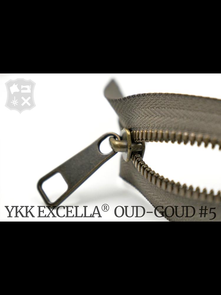 YKK Excella® YKK Excella Rits #5 Oud-Goud  op maat (enkel) - (Y05- Taupe 034)