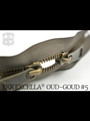 YKK Excella® YKK Excella Rits #5 Oud-Goud op maat (dubbel / head-to-head) - (Y05 - Taupe 034)