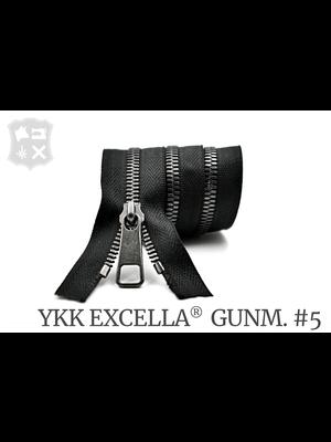 YKK Excella® YKK Excella Rits #5 Gunmetal op maat (enkel) - (ZA19 - zwart 580)