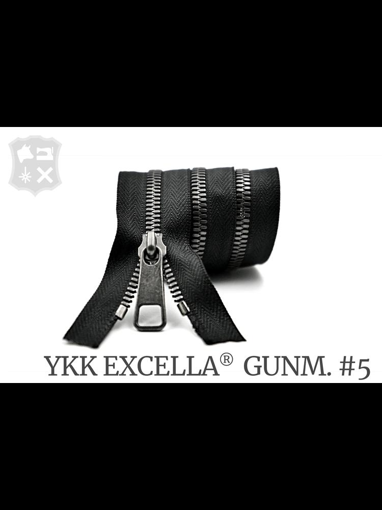 YKK Excella® YKK Excella Rits #5 Gunmetal op maat (enkel) - (zwart 580)