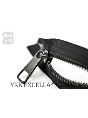 YKK Excella® YKK Excella Rits #5 Gunmetal op maat (dubbel / head-to-head) - (Zwart 580)