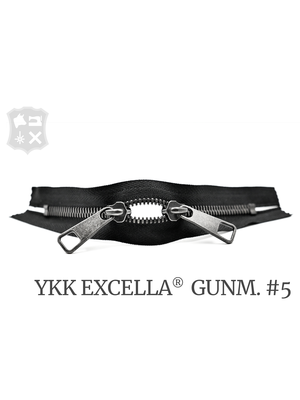 YKK Excella® YKK Excella Rits #5 Gunmetal op maat (dubbel / head-to-head) - (ZA19 - Zwart 580)
