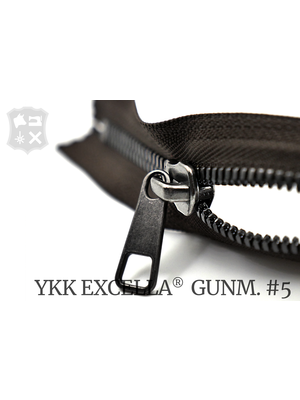 YKK Excella® YKK Excella Rits #5 Gunmetal op maat (dubbel / head-to-head) - (Donkerbruin 088)