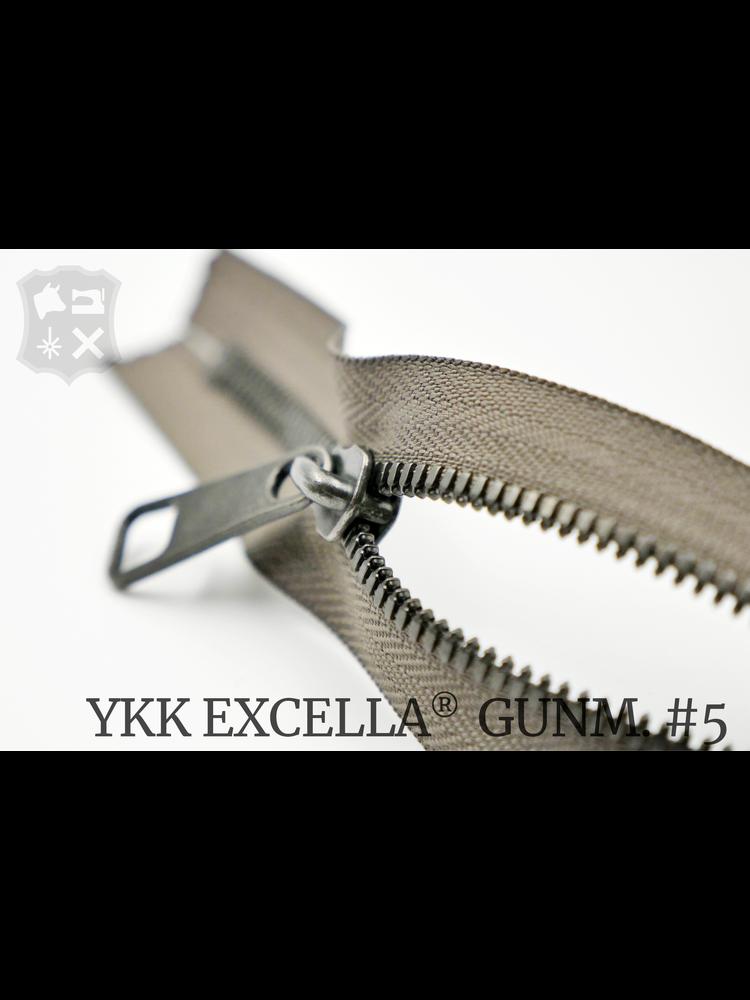 YKK Excella® YKK Excella Rits #5 Gunmetal op maat (dubbel / head-to-head) - (Y05 - Taupe 034)