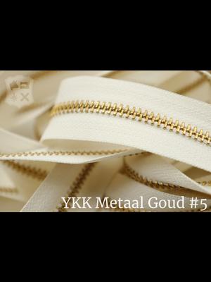 YKK Metaal Metalen rits #5 Goud van de rol - (A2 - Ivoor 841)