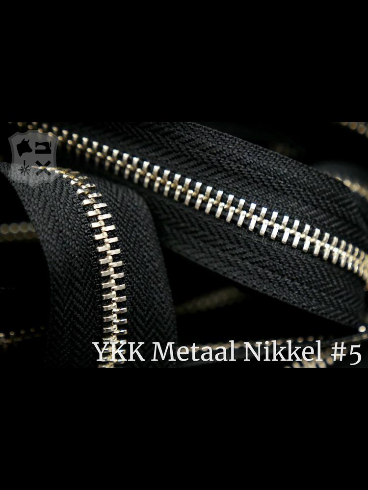 YKK Metaal YKK Metalen rits #5 Nikkel van de rol - zwart (580)