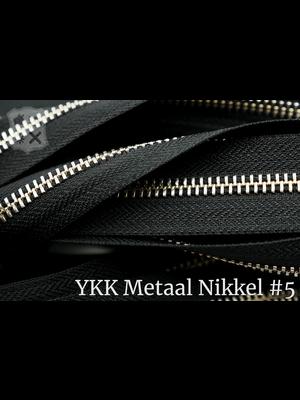YKK Metalen rits #5 Nikkel van de rol - (ZA19 - zwart 580)