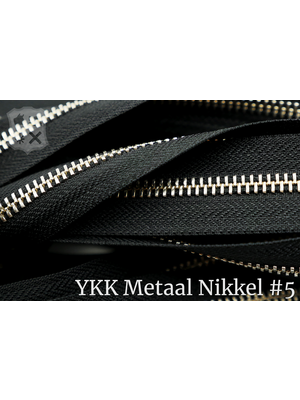 YKK YKK Metalen rits #5 Nikkel van de rol - zwart (580)