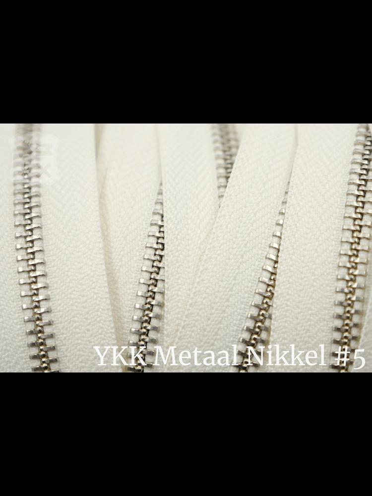 YKK YKK Metalen rits #5 Nikkel van de rol - Ivoor (841)