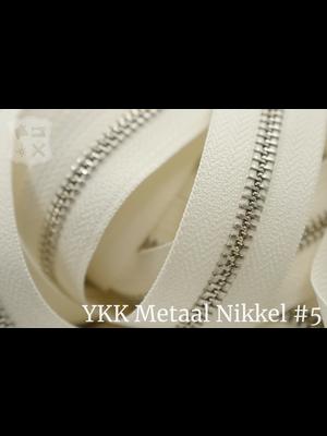 YKK Metaal Metalen rits #5 Nikkel van de rol - (A2 - Ivoor 841)