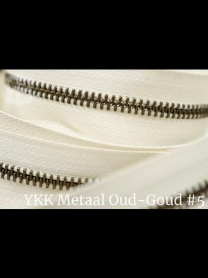 YKK Metaal Metalen rits #5 Oud-Goud van de rol - (A2 - ivoor 841)