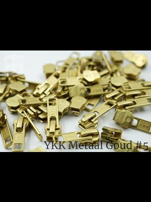 YKK YKK sluiters met puller #5, goud, geremd (5 stuks)