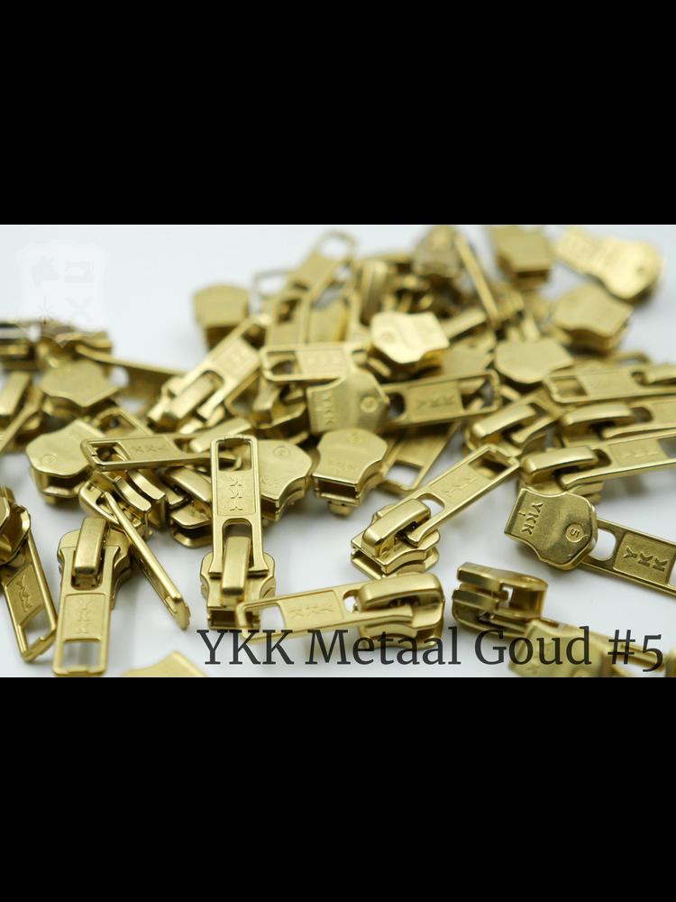 YKK Metaal YKK sluiters met puller #5, Golden Brass, geremd (5 stuks)