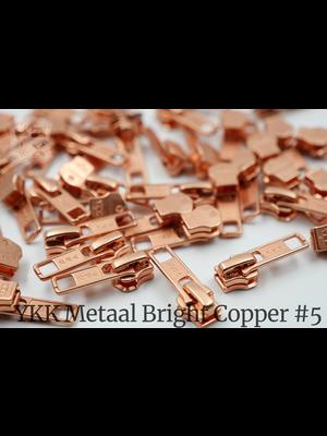 YKK YKK sluiters met puller #5, Bright Copper, geremd (5 stuks)