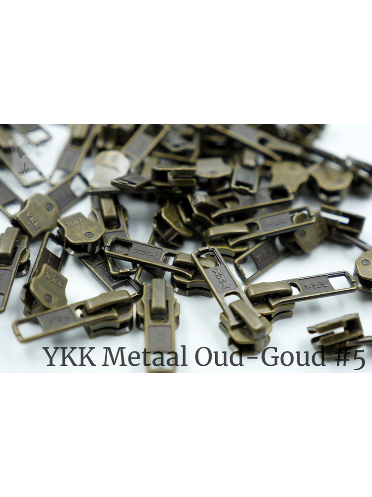 YKK YKK sluiters met puller #5, Antique Brass, geremd (5 stuks)