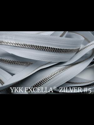 YKK Excella® Excella® #5 Zilver van de rol - IJsgrijs (369). Per Meter