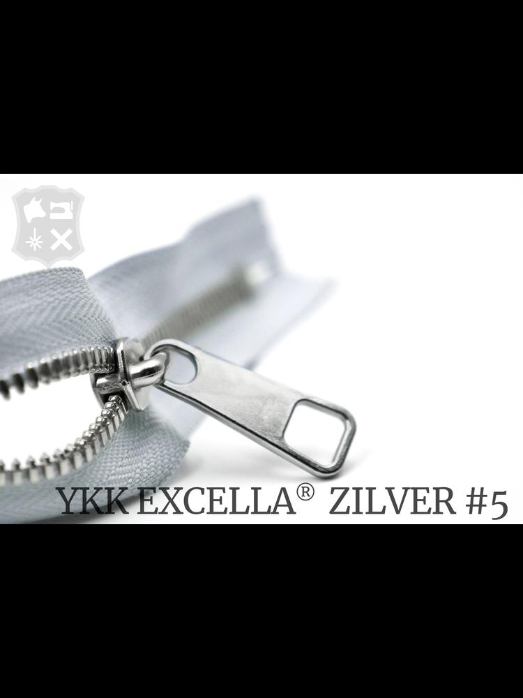 YKK Excella® YKK Excella Rits #5 zilver op maat (enkel) - IJsgrijs 369