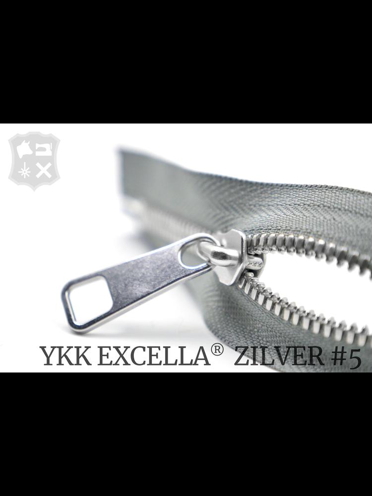 YKK Excella® YKK Excella Rits #5 zilver op maat (dubbel / head-to-head) -  (ZA05 - Parelgrijs 577)