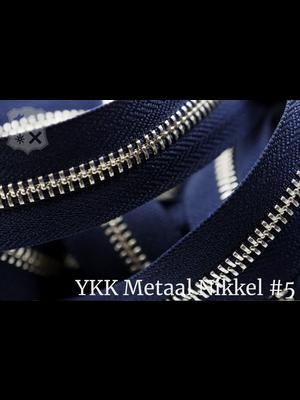 YKK Metaal Metalen rits #5 Nikkel van de rol - (K16 - Marine blauw 058)
