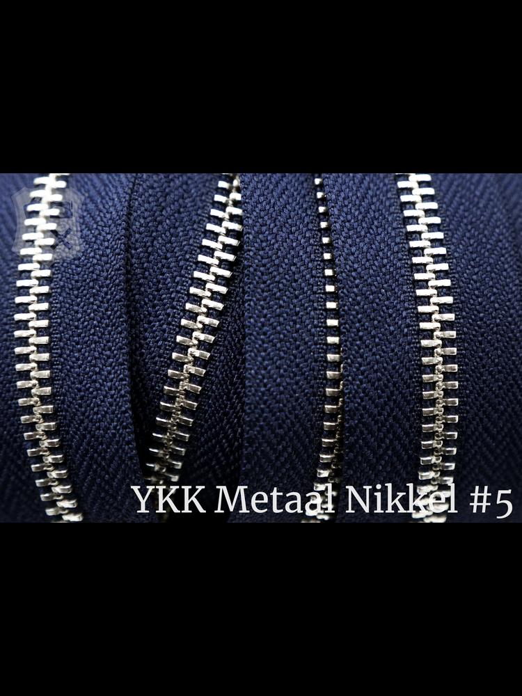 YKK YKK Metalen rits #5 Nikkel van de rol -  Marine blauw (058)
