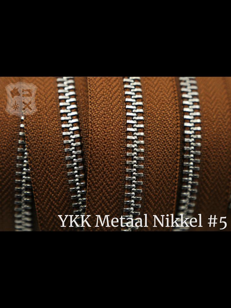 YKK YKK Metalen rits #5 Nikkel van de rol - Cognac (859)