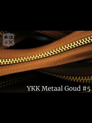 YKK Metaal Metalen rits #5 Goud van de rol - (C17 - Cognac 859)