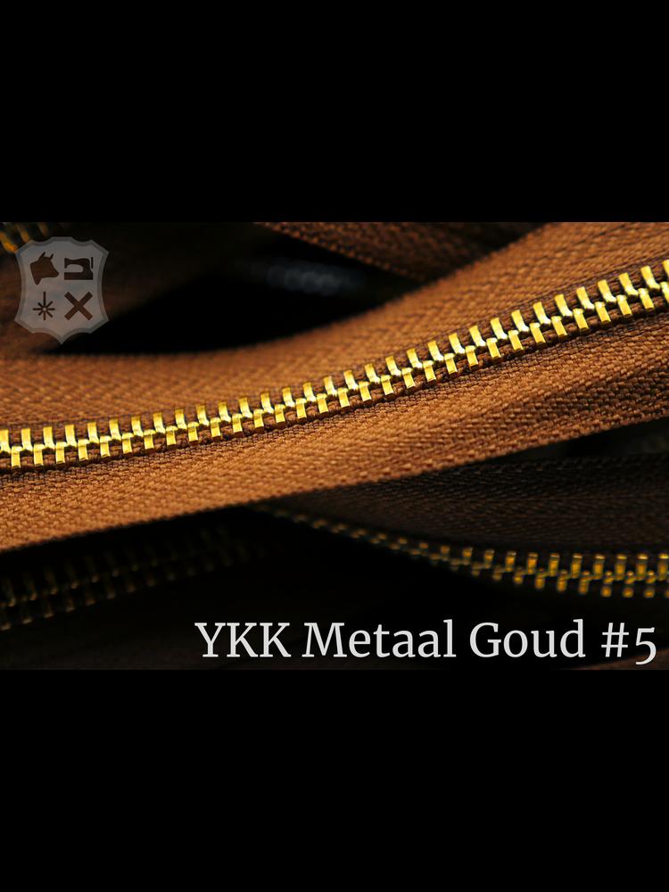 YKK YKK Metalen rits #5 Golden Brass van de rol  - Cognac (859)