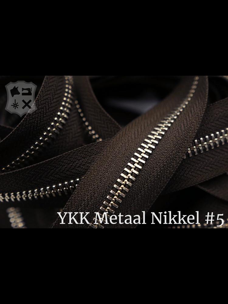 YKK YKK Metalen rits #5 Nikkel van de rol -  Donkerbruin (088)