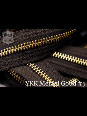 YKK Metaal Metalen rits #5 Goud van de rol - (V19 -  Donkerbruin 088)