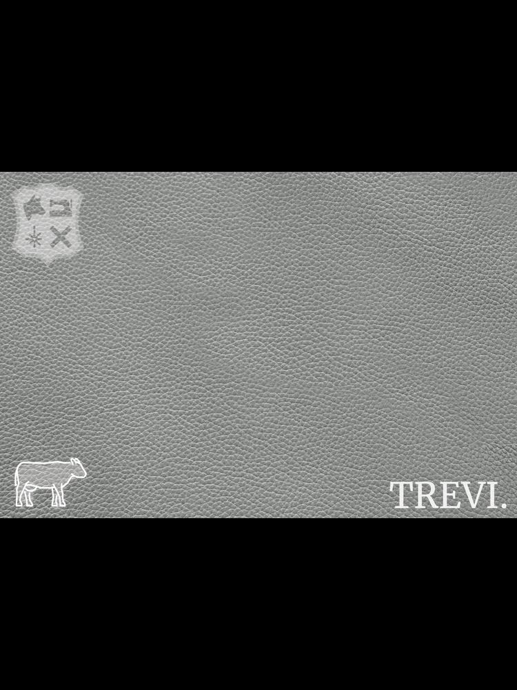 Trevi Grigio - Trevi Leder, Grijs nappa leder met korrel (nappa leder)